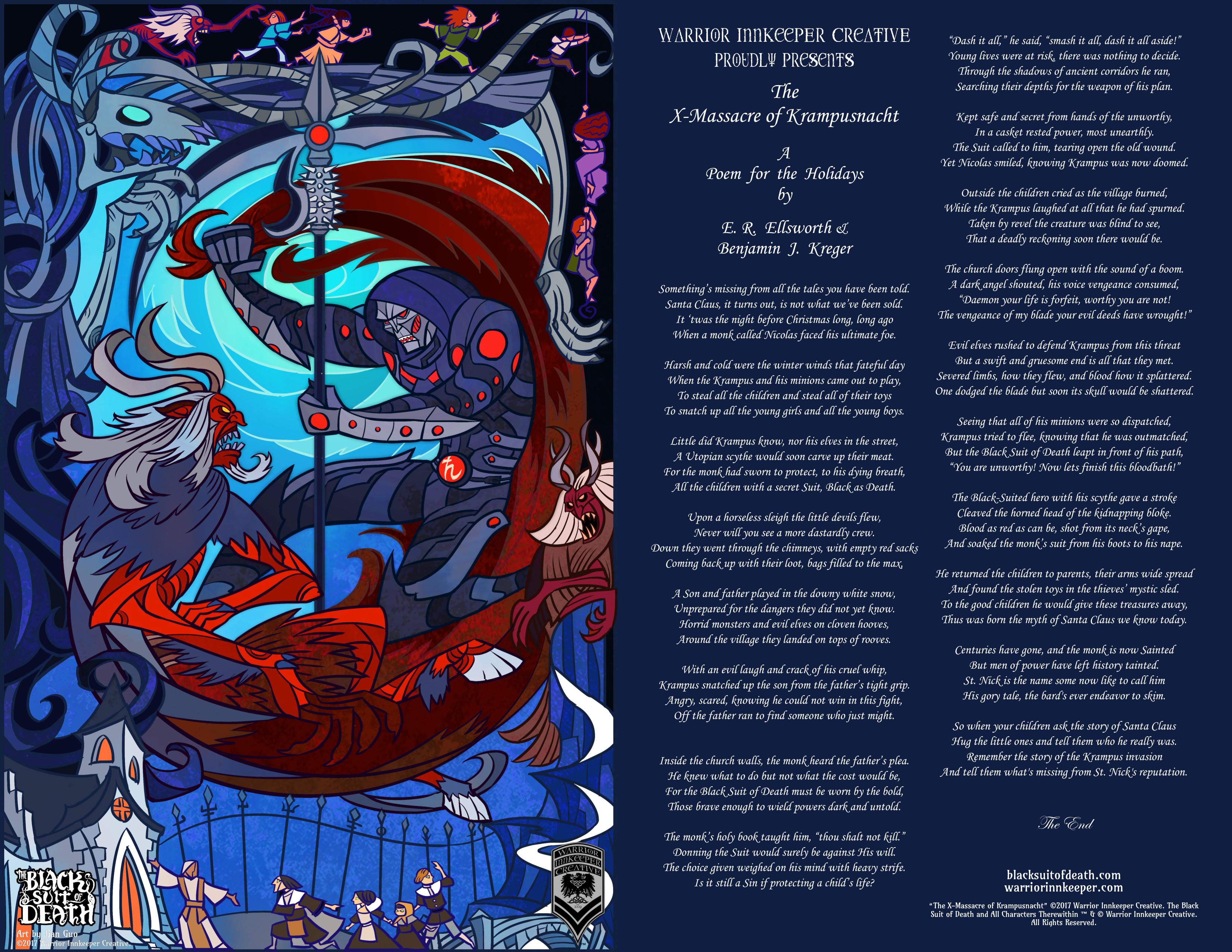 Evil Christmas Characters.X Mas Sacre A Bsd Holiday Poem Black Suit Of Death Blog